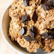 Peanut Butter Chocolate Chunk Granola Clusters
