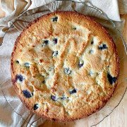 Low-Carb Blueberry Coffee Cake