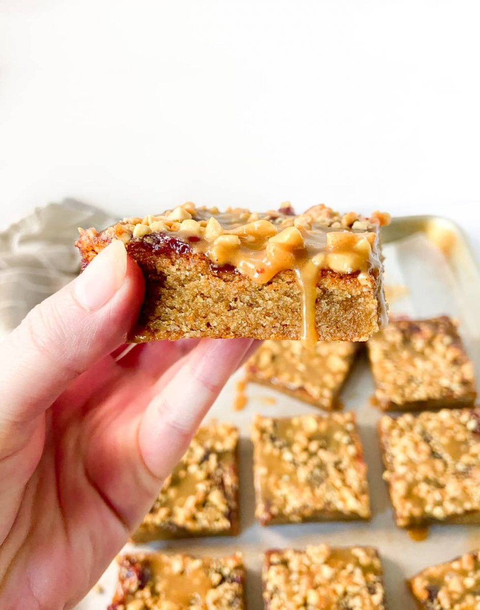 easy peanut butter recipe  -peanut butter and jelly bars