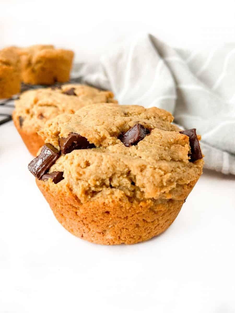 A close-up of a muffin.