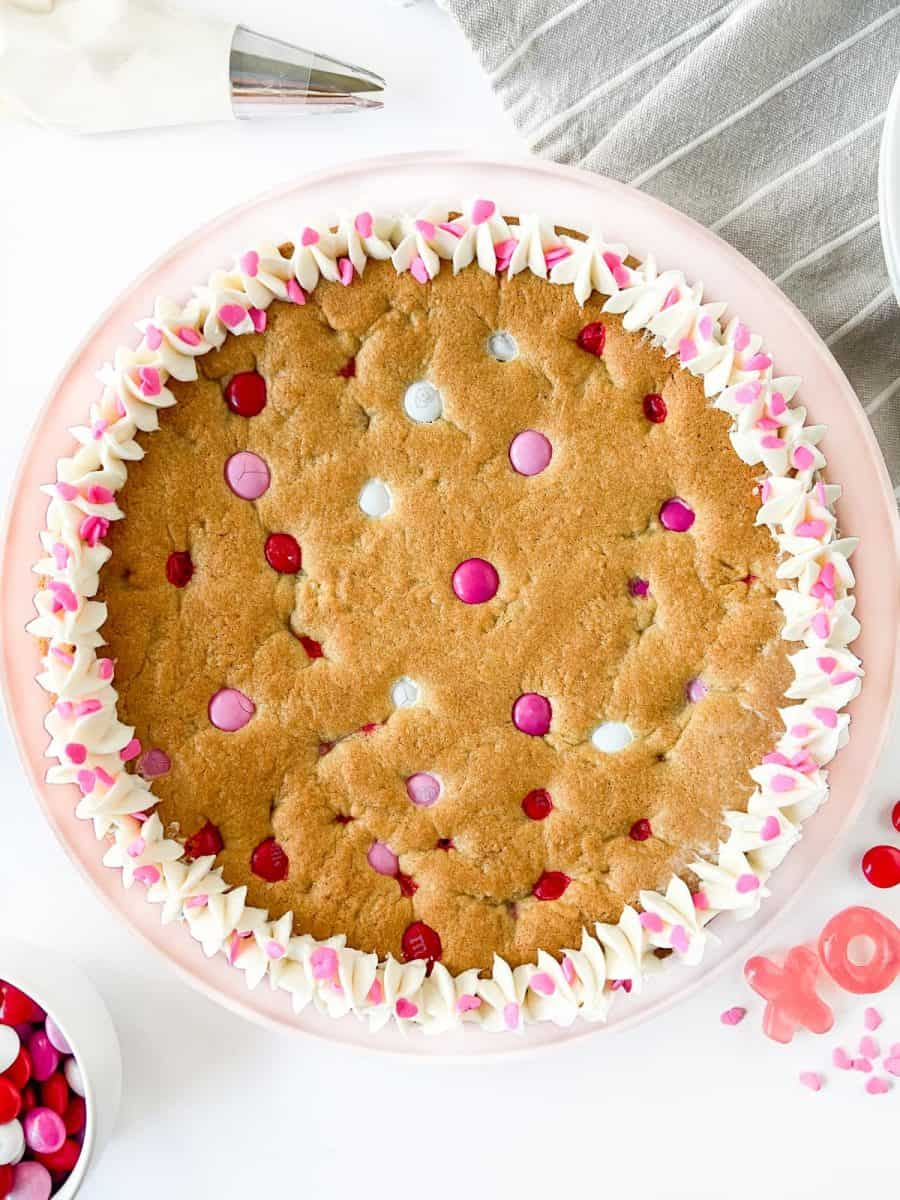 Valentine's M&M Cookie Cake
