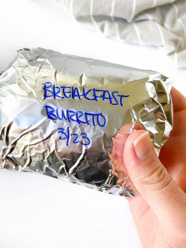 How to store each breakfast burrito