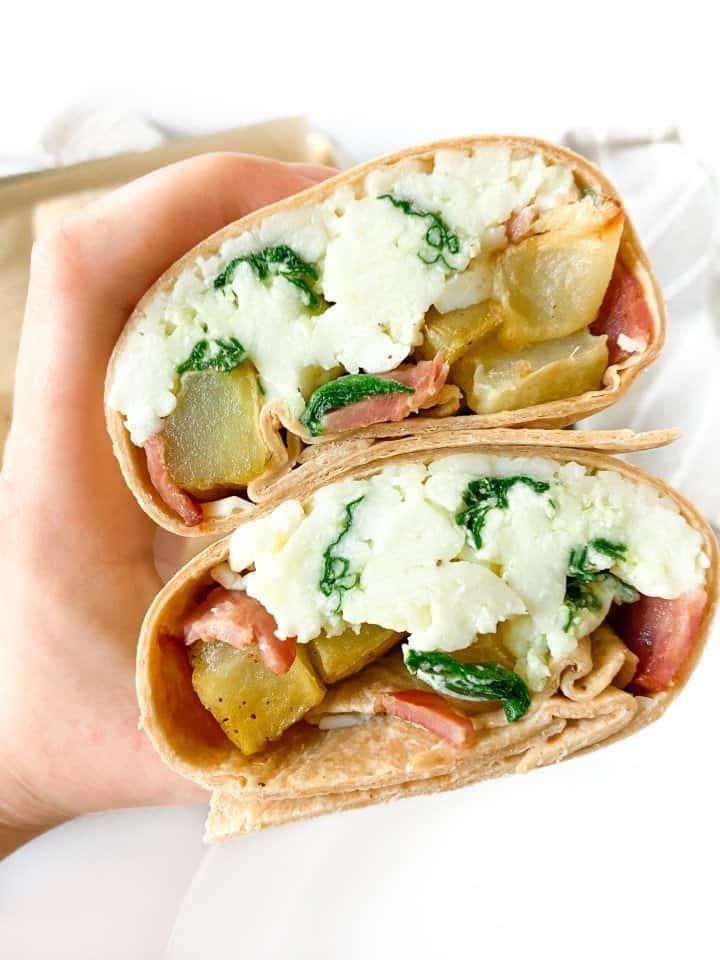 A  healthy make-ahead breakfast burrito
