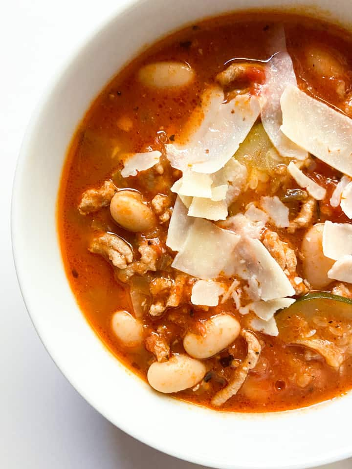 A close-up of this soup.